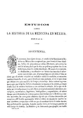 Estudio sobre la historia de la medicina en México.