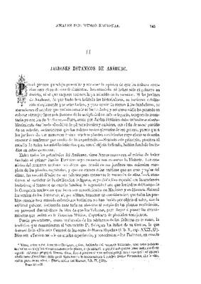 Primer estudio. La botánica entre los nahuas. II.- Jardines botánicos de Anáhuac