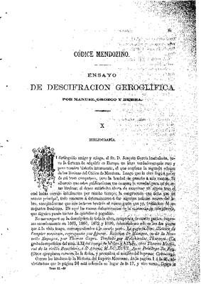 Ensayo de descifración geroglífica. X.- Bibliografía.