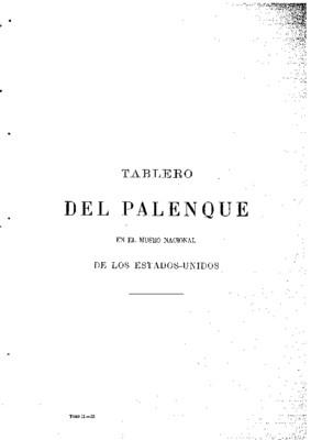 Tablero de Palenque en el Museo Nacional de los Estados Unidos.