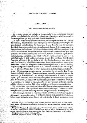 Tablero de Palenque en el Museo Nacional de los Estados Unidos. II.- Exploraciones en Palenque.