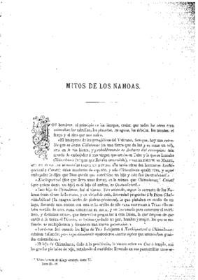 Mitos de los nahoas.