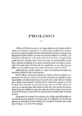 Prólogo a los Anales del Museo.