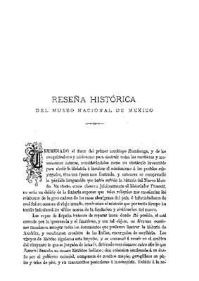 Reseña histórica del Museo Nacional de México.