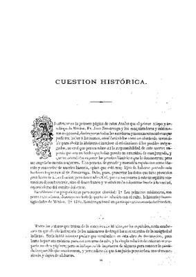 Cuestión histórica
