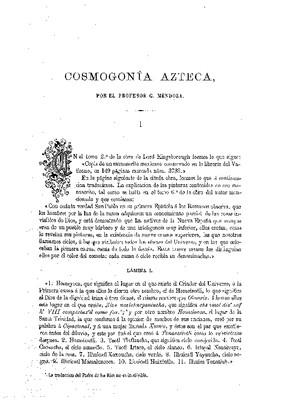 Cosmogonía azteca.