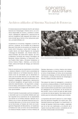 Archivos afiliados al Sistema Nacional de Fototecas
