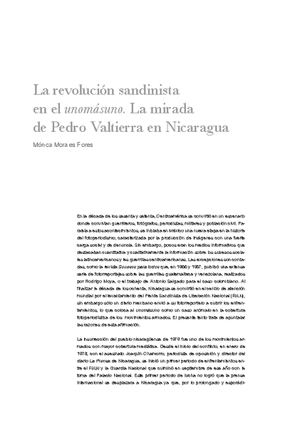 La revolución sandinista en el unomásuno. La mirada de Pedro Valtierra en Nicaragua