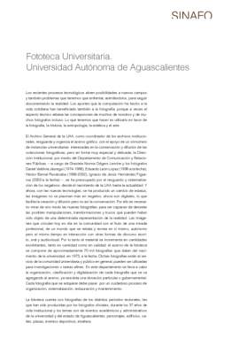 Fototeca Universitaria. Universidad Autónoma de Aguascalientes