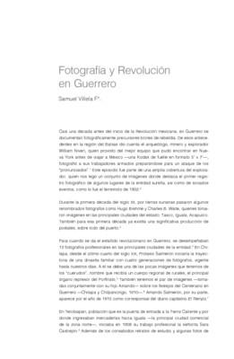 Fotografía y Revolución en Guerrero