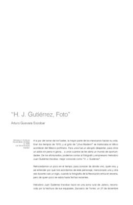 H. J. Gutiérrez, Foto