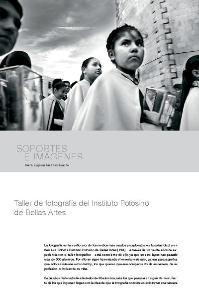 Taller de fotografía del Instituto Potosino de Bellas Artes