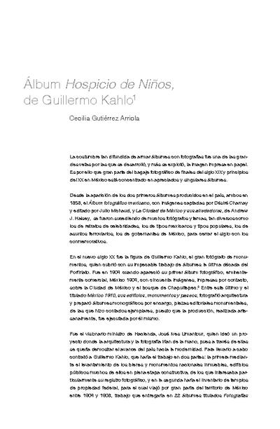 Álbum Hospicio de Niños, de Guillermo Kahlo