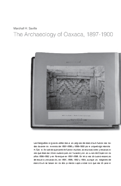 The Archaeology of Oaxaca, 1897-1900