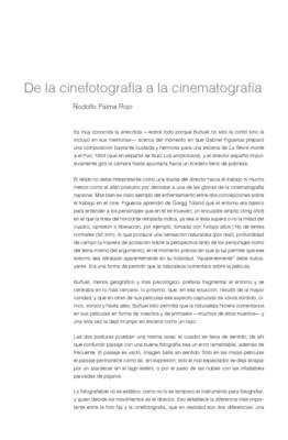 De la cinefotografía a la cinematografía