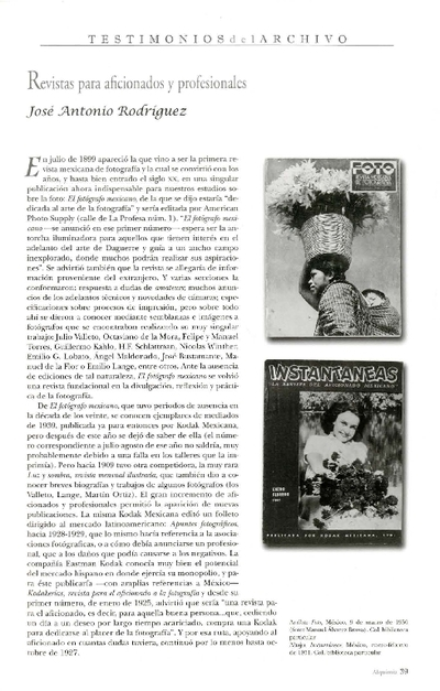 Revistas para aficionados y profesionales