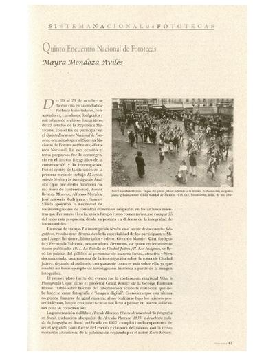 Quinto Encuentro Nacional de Fototecas