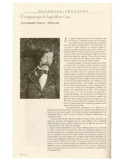 Un daguerrotipo de Ángel Albino Corzo