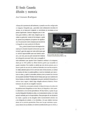 El fondo Casasola: difusión y memoria
