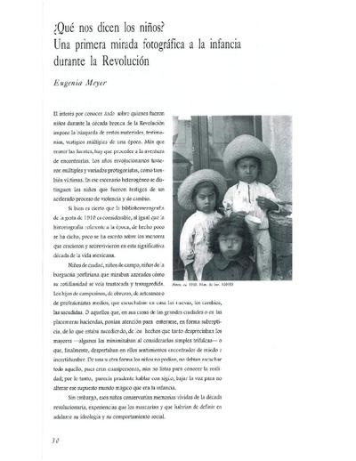 ¿Qué nos dicen los niños? Una primera mirada fotográfica a la infancia durante la Revolución