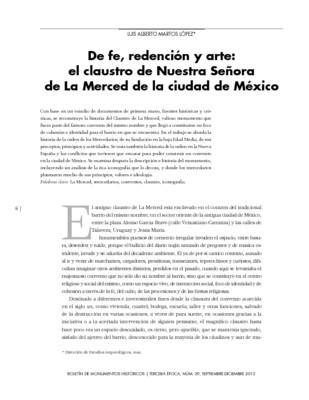 De fe, redención y arte: el claustro de Nuestra Señora de La Merced de la ciudad de México