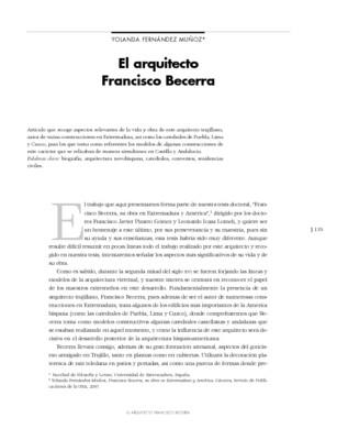 El arquitecto Francisco Becerra