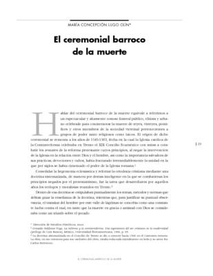 El ceremonial barroco de la muerte