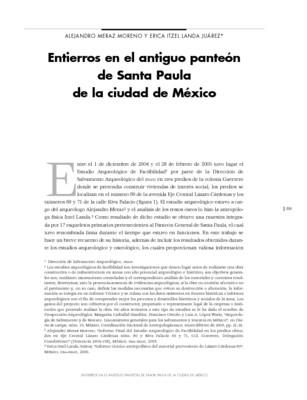 Entierros en el antiguo panteón de Santa Paula de la ciudad de México