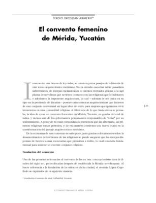 El convento femenino de Mérida Yucatán