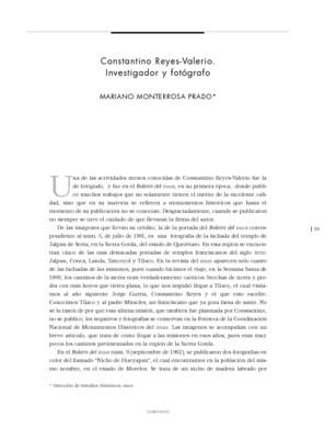 Constantino Reyes-Valerio. Investigador y fotógrafo