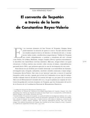El convento de Tecpatán a través de la lente de Constantino Reyes-Valerio