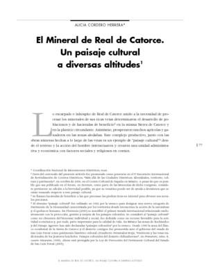 El Mineral de Real de Catorce. Un paisaje cultural a diversas altitudes