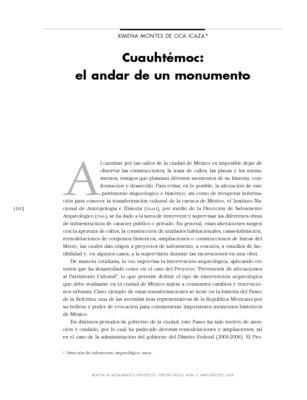 Cuauhtémoc: el andar de un monumento