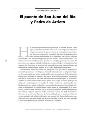 El puente de San Juan del Río y Pedro de Arrieta