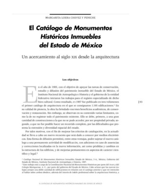 El Catálogo de Monumentos Históricos Inmuebles del Estado de México. Un acercamiento al siglo XIX desde la arquitectura