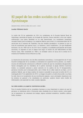 El papel de las redes sociales en el caso Ayotzinapa