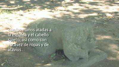 Esculturas de cautivos mayas