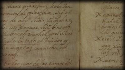 Manuscritos en lenguas indígenas