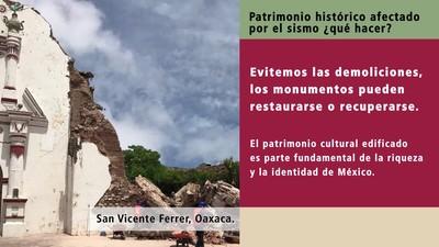 Qué hacer con el patrimonio histórico afectado por los sismos