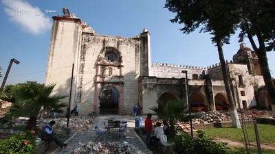 Recuperación de pintura mural en Ex Conventos de Morelos y Puebla afectados por sismos