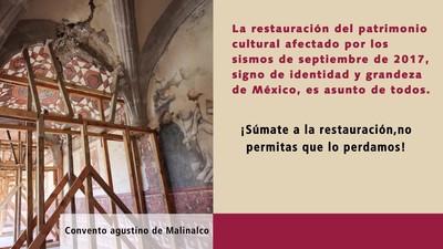 Súmate a la restauración del Patrimonio Cultural