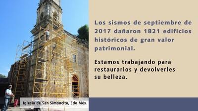 Trabajos de recuperación en edificios históricos