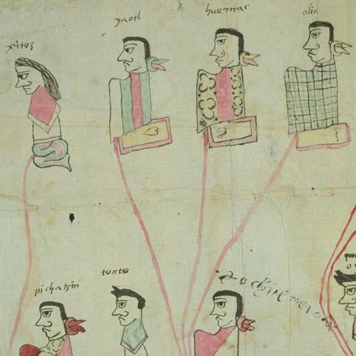 Genealogía de Tetlamaca y Tlametzin