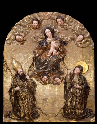 Virgen María con san Agustín y santa Mónica
