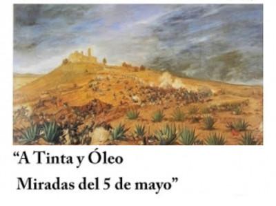 A tinta y óleo. La Batalla del 5 de Mayo de 1862