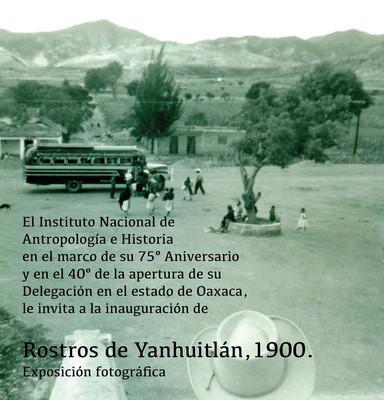Rostros de Yanhuitlán, 1900. Exposición fotográfica