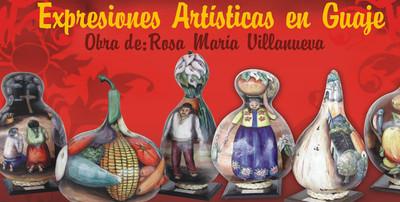 Expresiones artísticas en guaje. Obra de: Rosa María Villanueva