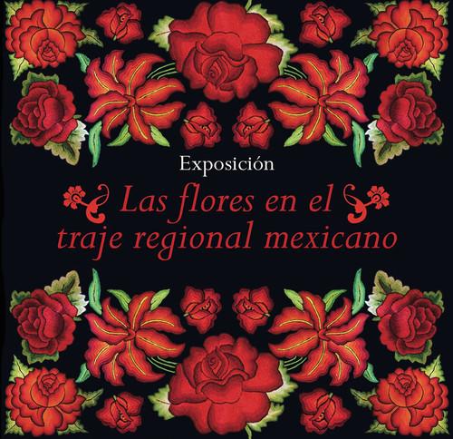 La flores en el traje regional mexicano