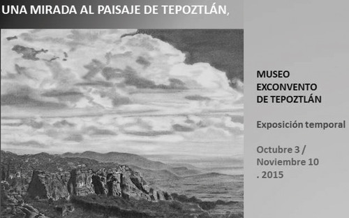 Una mirada al paisaje de Tepoztlán, dibujos de Jorge Mercado