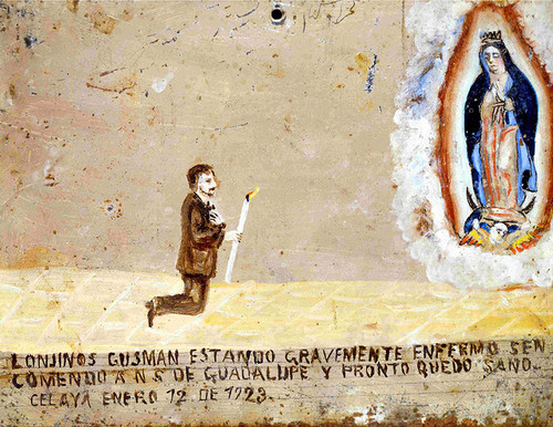 Exvoto a la Virgen de Guadalupe